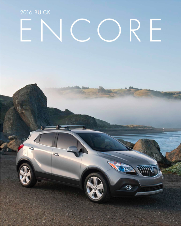 Used Buick Encore: Brochure Of 2016 Buick Encore