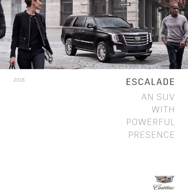 Graff Buick: 2016 Cadillac Escalade ESV Brochure Graff Mt. Pleasant