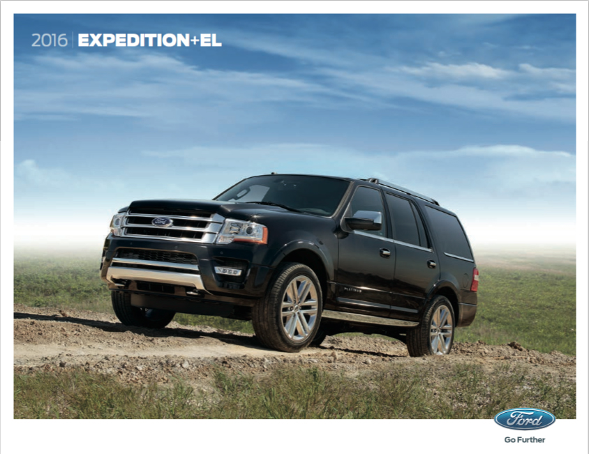 brochure of 2016 ford expedition el north bros ford. Black Bedroom Furniture Sets. Home Design Ideas