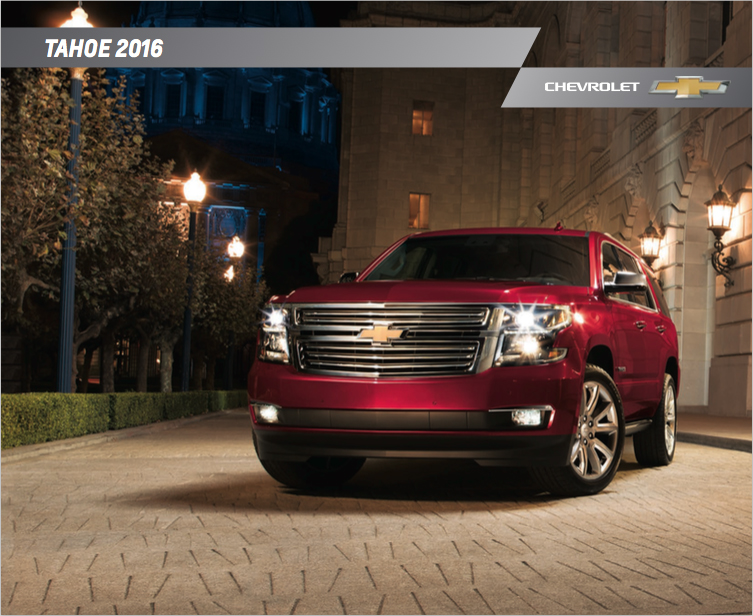 Brochure of 2016 Chevrolet Tahoe  Graff Bay City