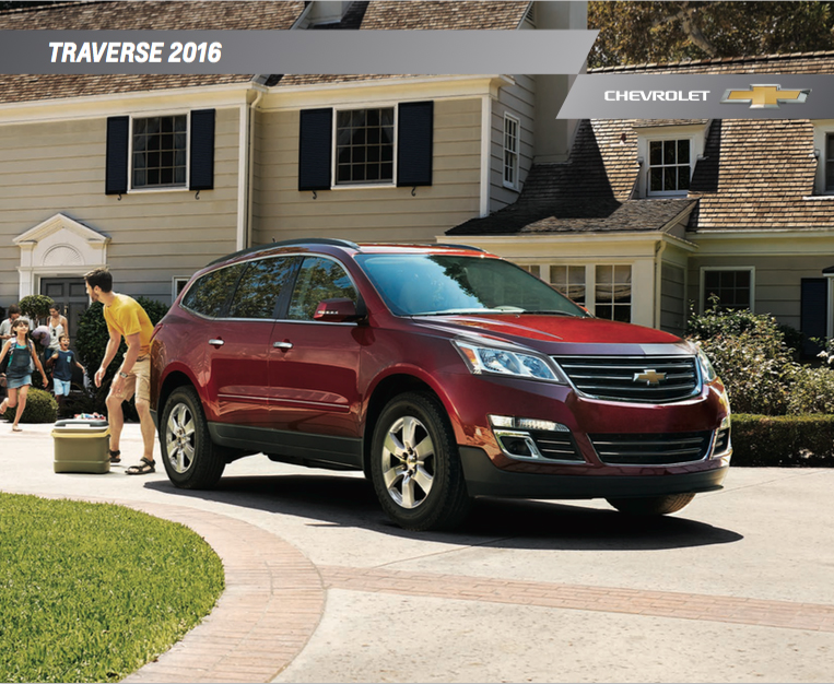 brochure of 2016 chevrolet traverse graff durand. Black Bedroom Furniture Sets. Home Design Ideas
